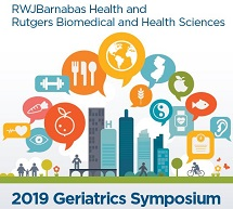 RWJBarnabas and Rutgers Biomedical and Health Sciences 2019 Geriatrics Symposium Banner