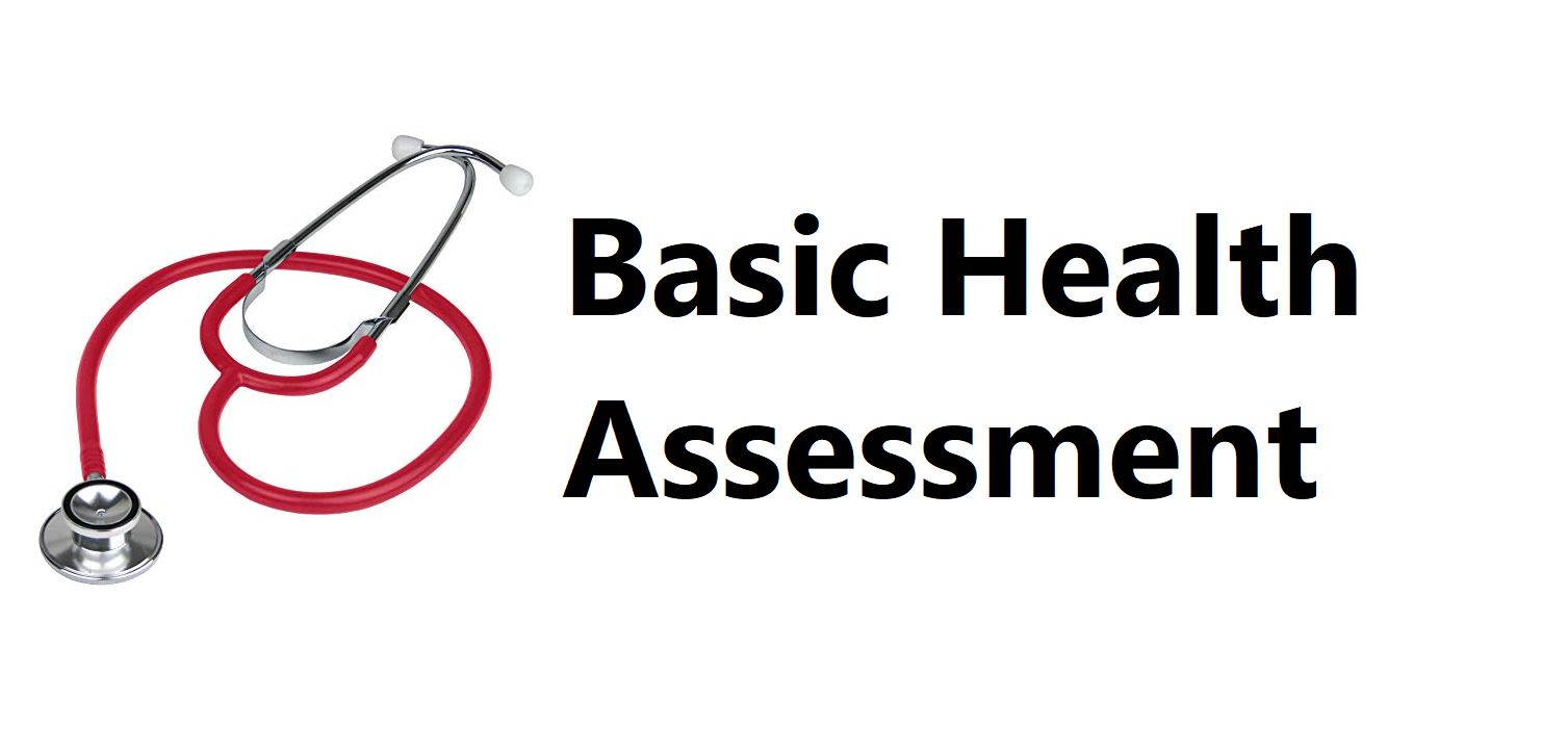 Basic Health Assessment - October 30, November 13, & December 4, 2019 Banner
