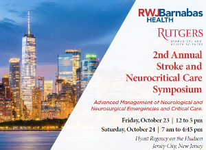 2nd Annual Stroke and Neurocritical Care Symposium:  Advanced Management for Neurological and Neurosurgical Emergencies and Critical Care Banner