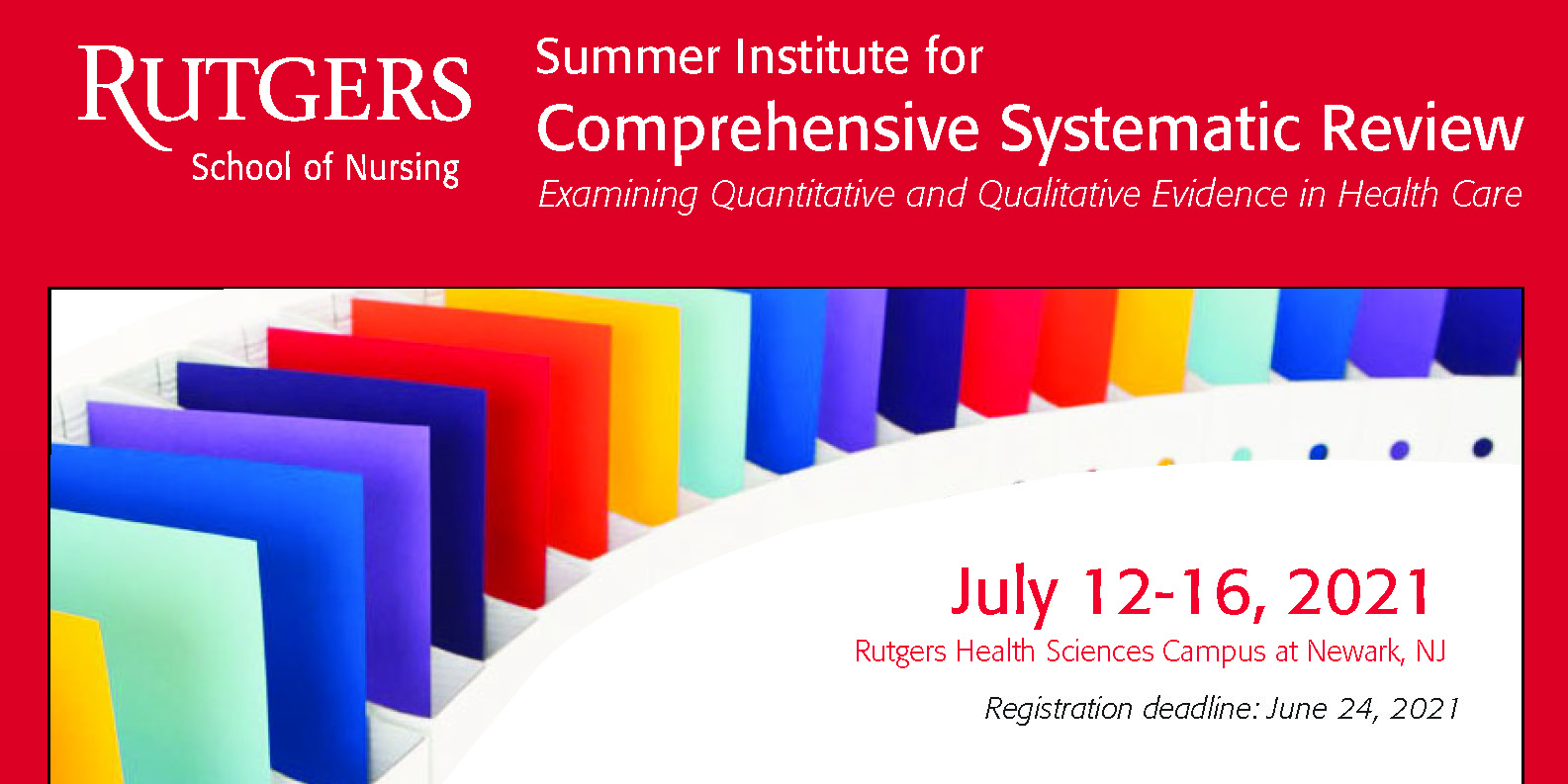 NEST Summer Institute for Comprehensive Systematic Review 5 Day Track Banner