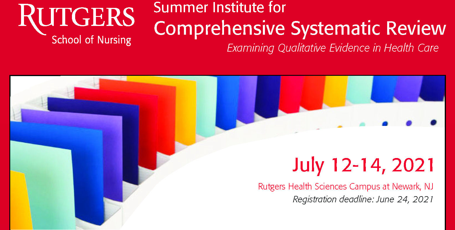 NEST Summer Institute for Comprehensive Systematic Review 2021 - 3 Day Qualitative Track Banner
