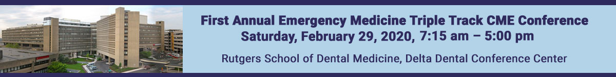 First Annual Emergency Medicine Triple Track CME/CE Conference Banner