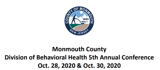 Monmouth County Division of Behavioral Health 5th Annual Conference - 2020 Banner